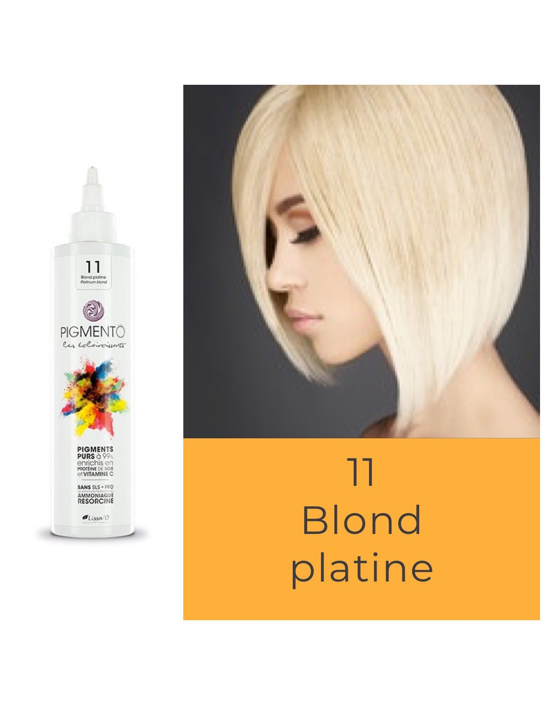 Coloration Pigmento super éclaircissants n°11 - Blond Platine