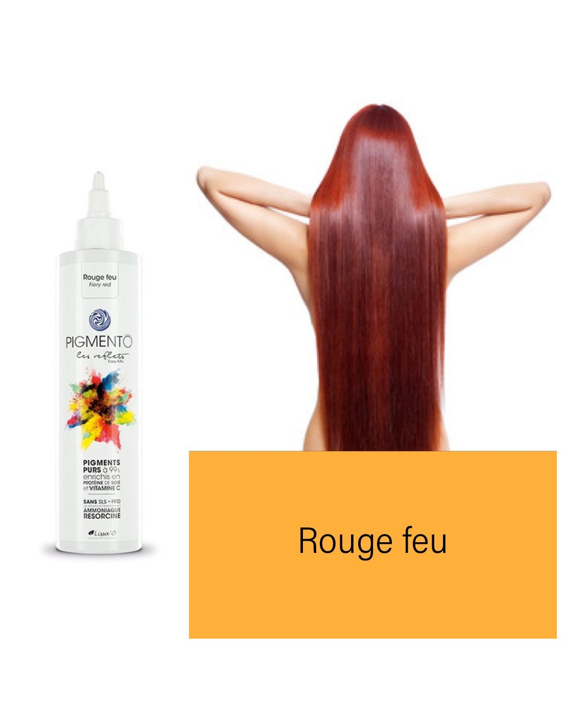Coloration Pigmento reflet Easy Mix Rouge feu